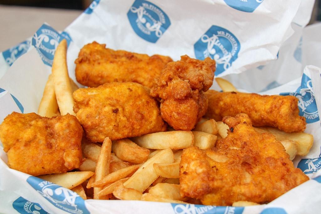 Best Fish and Chips at Alabama Fish Bar, Cincinnati, Ohio