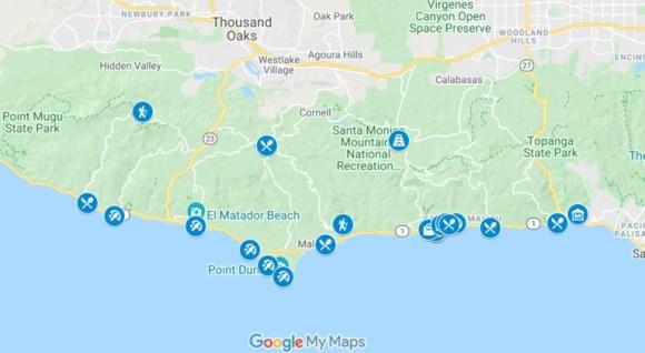 Malibu Map by JetSettingFools.com