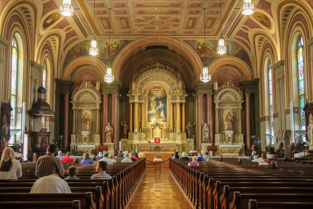 Mass at Old St. Mary's Church, Cincinnati, Ohio