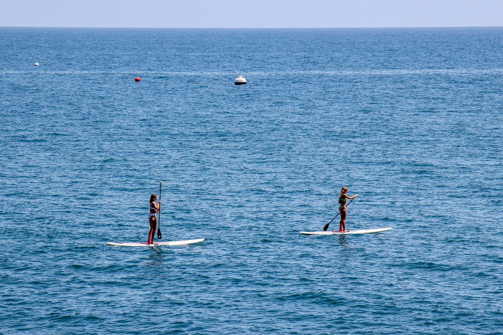 Hop on a Stand up paddle board, Malibu, California