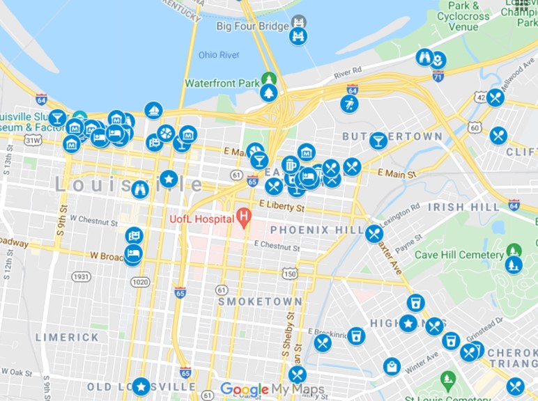 Things To Do in Louisville MAP by JetSettingFools.com