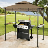 Create a grilling oasis with the Brylane Home Grilling Gazebo!