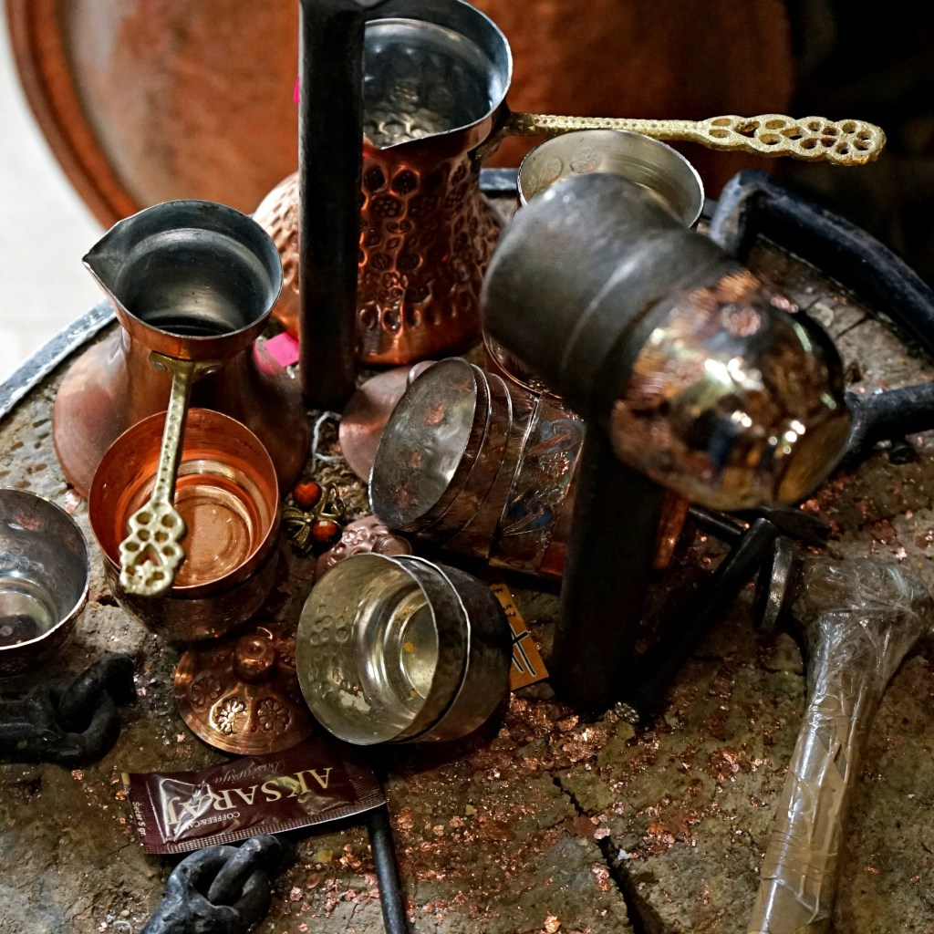 The copper souvenirs workshop in Sarajevo