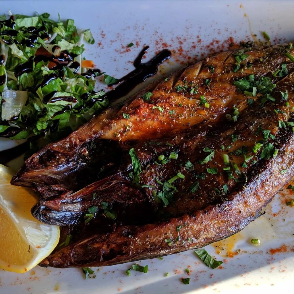 Sun-dried fish at aroma restaurant