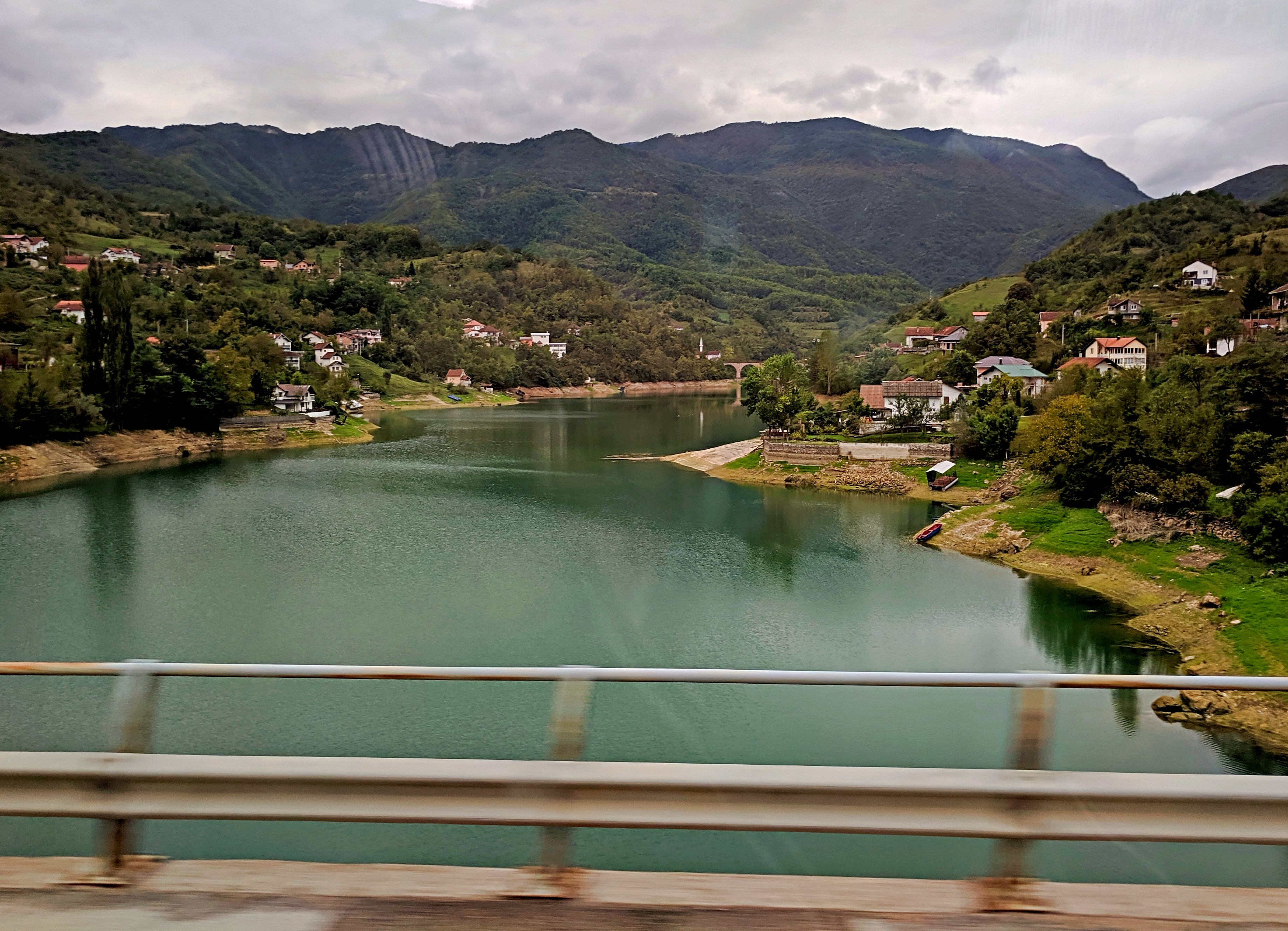 The amazing view on Neretva river from the bus to Mostar