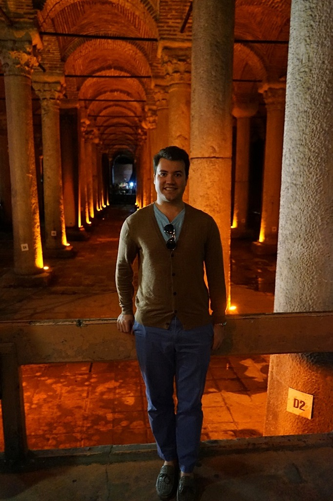 Cody at the Basilica Cistern