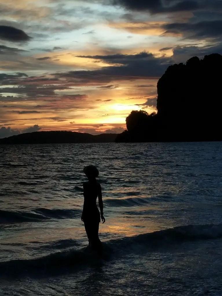 Sunset at the Railay beach