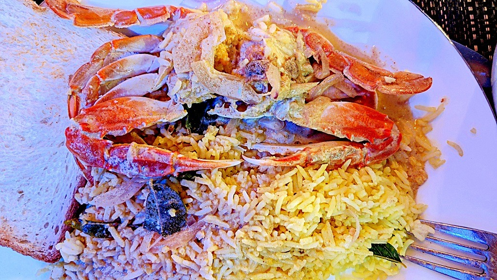 Jaffna Crab Curry at Nautilus. The #1 place to eat in Unawatuna
