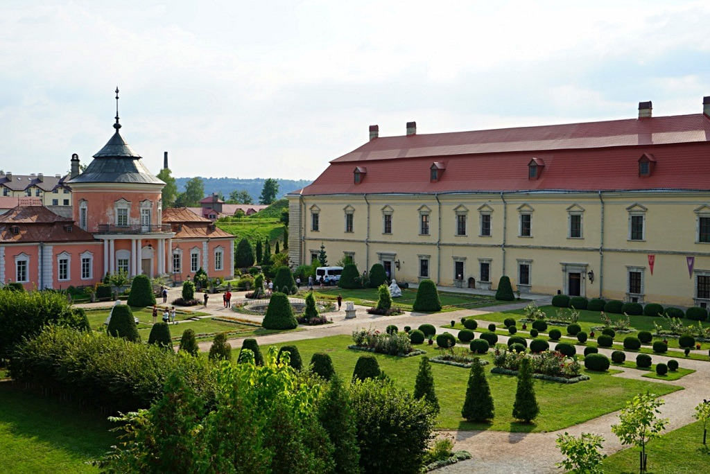 The garden of one of the castles of Lviv
