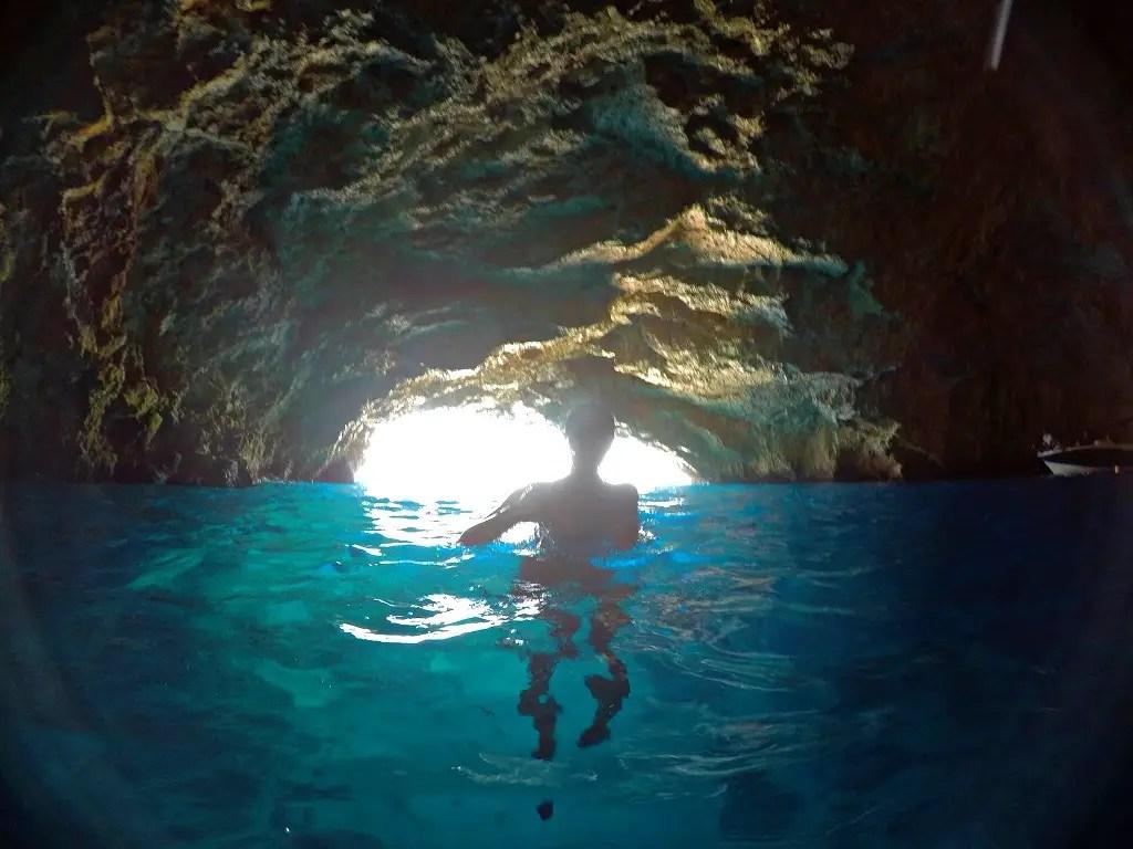 Alona Tiunina, Blue cave