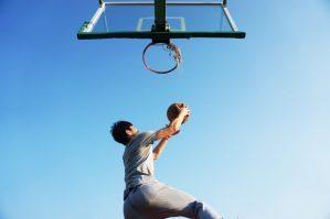 A basket ball dunk representing success in web design goals