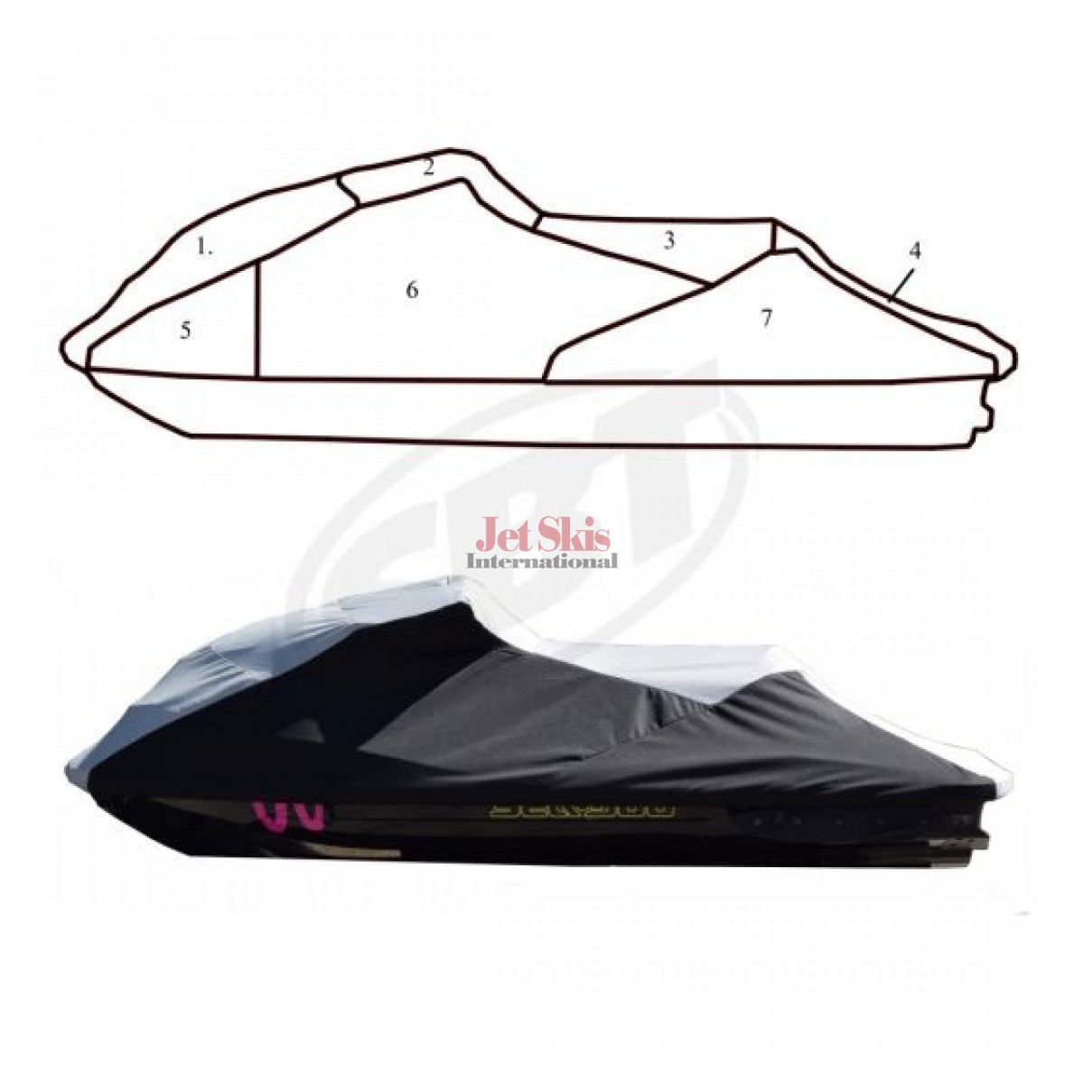 hight resolution of sea doo rxt x 260 gtr x storage cover 111ws116 c