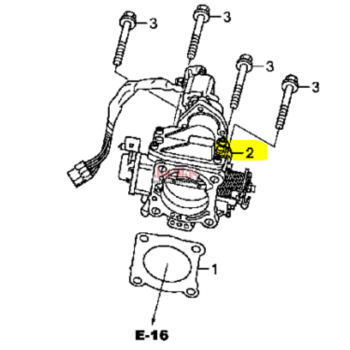 Honda Aquatrax Hw5 901 Throttle Body Assembly