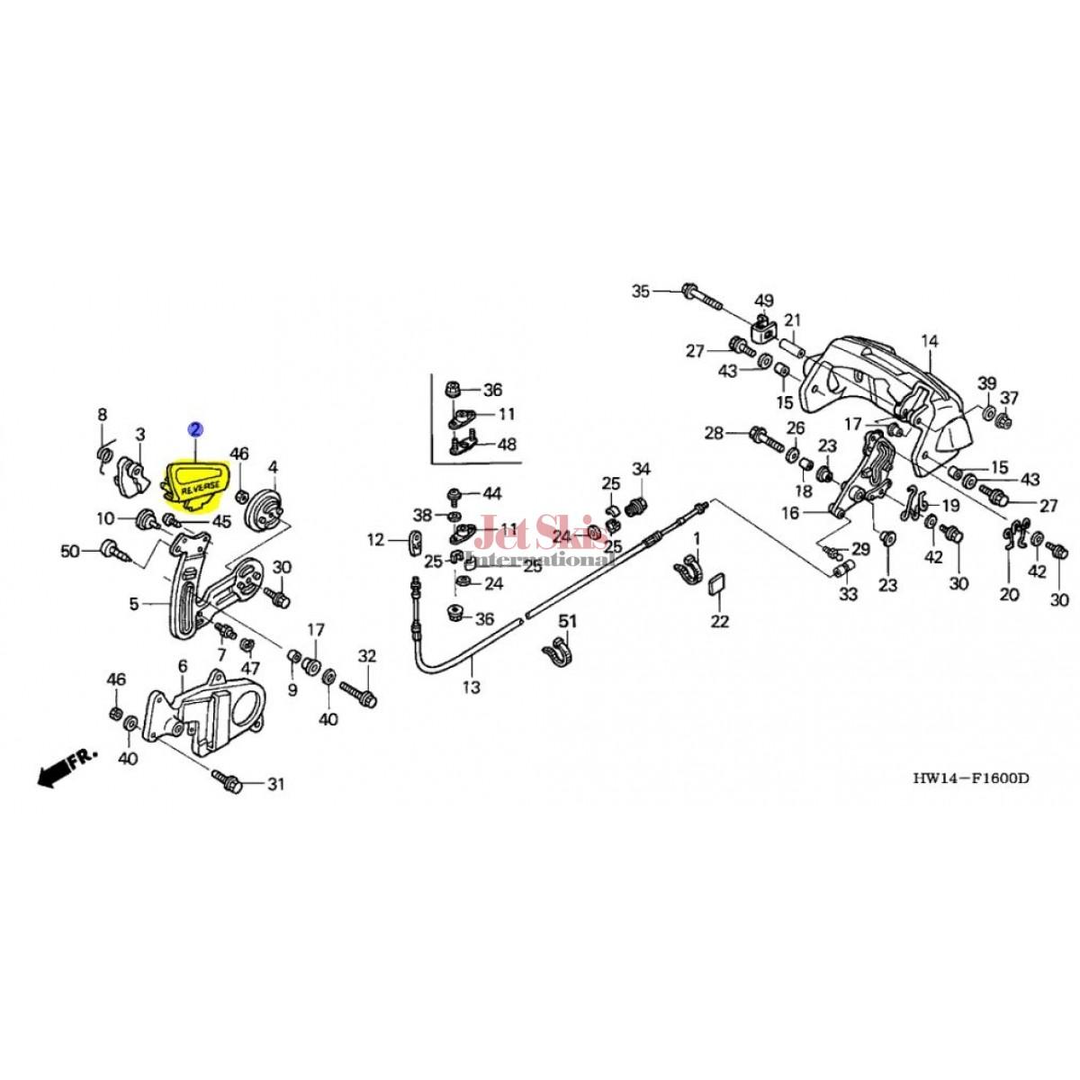 GENUINE HONDA 24811-HW1-690ZA REVERSE GRIP IN BILLET