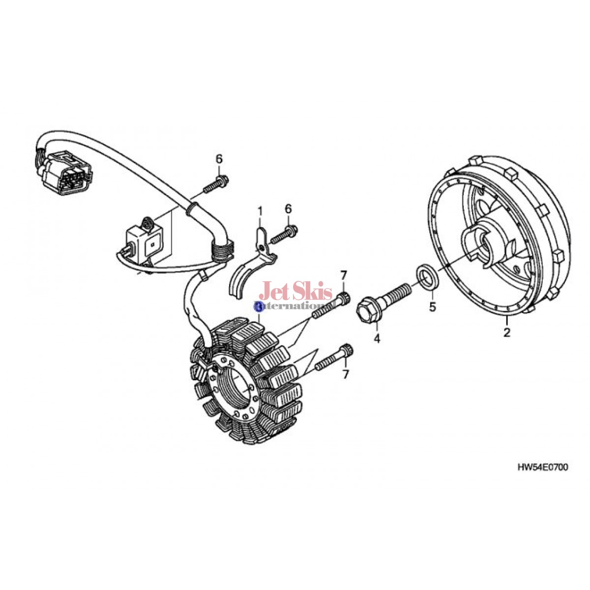 HONDA AQUATRAX 31120-HW5-901 STATOR/PULSE GENERATOR FOR