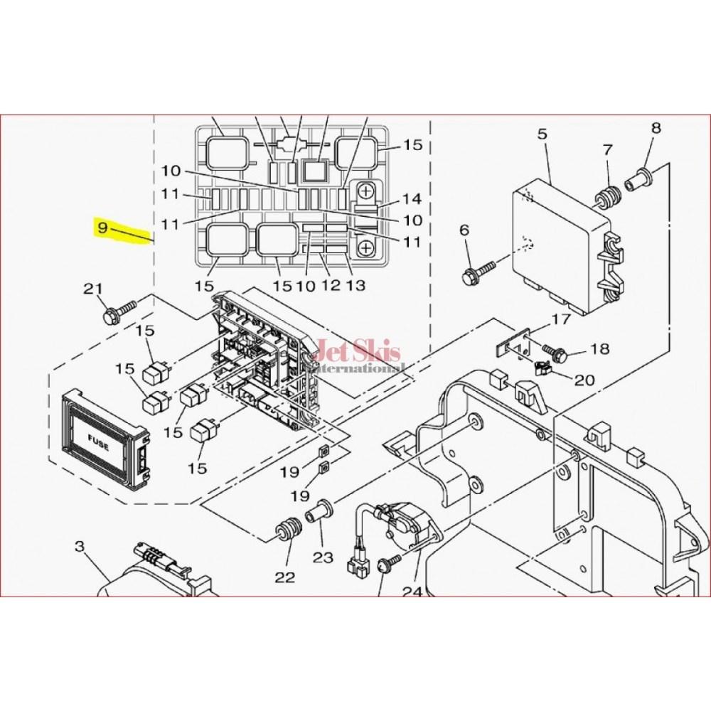 medium resolution of  1997 seadoo wiring diagram yamaha 6ex 82170 01 00 fuse box assembly