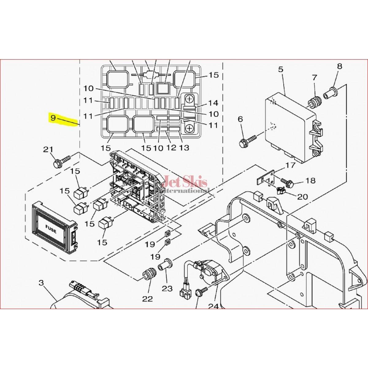 hight resolution of  1997 seadoo wiring diagram yamaha 6ex 82170 01 00 fuse box assembly
