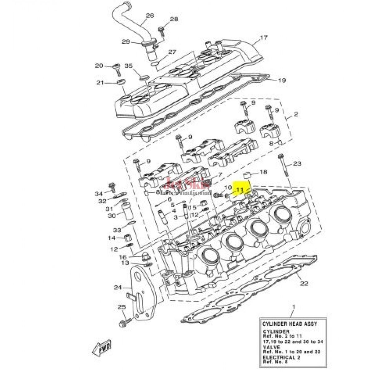YAMAHA 90430-06014-00 GASKET FX, VX CRUISER/DELUXE/SPORT