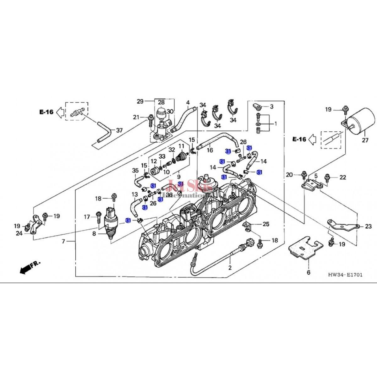 Honda Aquatrax Hw1 671 Clamp Tube D7 3