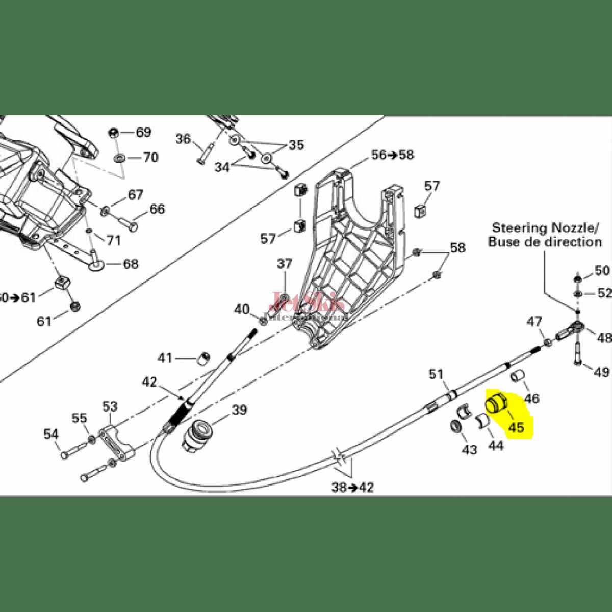Seadoo Part Steering Cable Lock