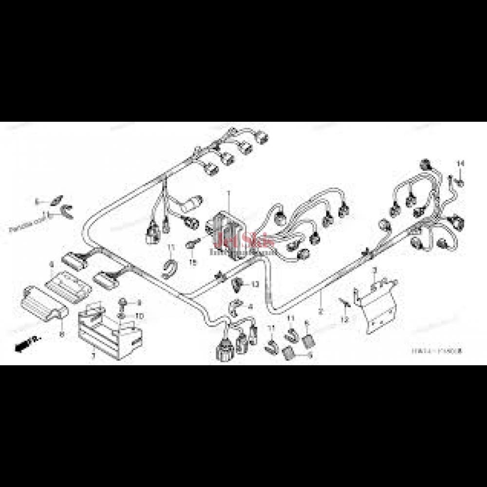 medium resolution of honda 95 civic with 5462 honda ca175 wiring diagram honda aquatrax part 32101 hw3 670 engine harness