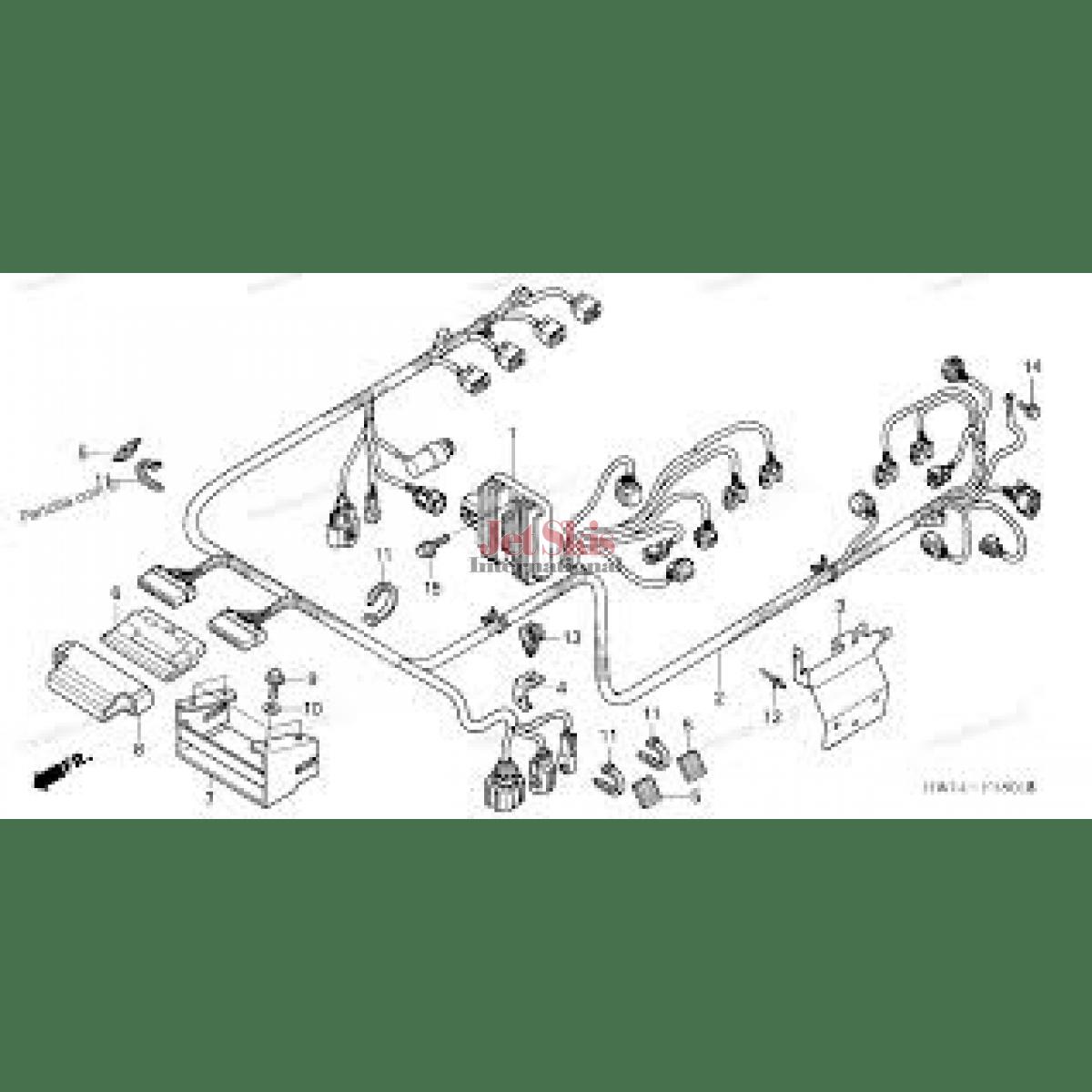 hight resolution of honda 95 civic with 5462 honda ca175 wiring diagram honda aquatrax part 32101 hw3 670 engine harness