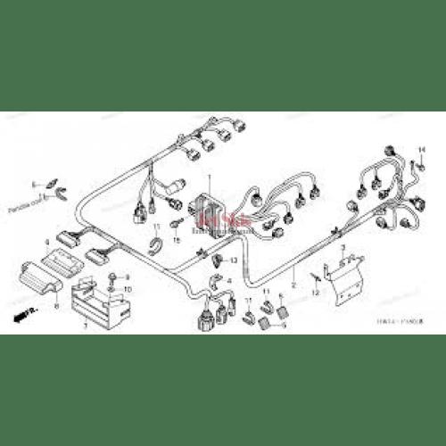 small resolution of honda 95 civic with 5462 honda ca175 wiring diagram honda aquatrax part 32101 hw3 670 engine harness