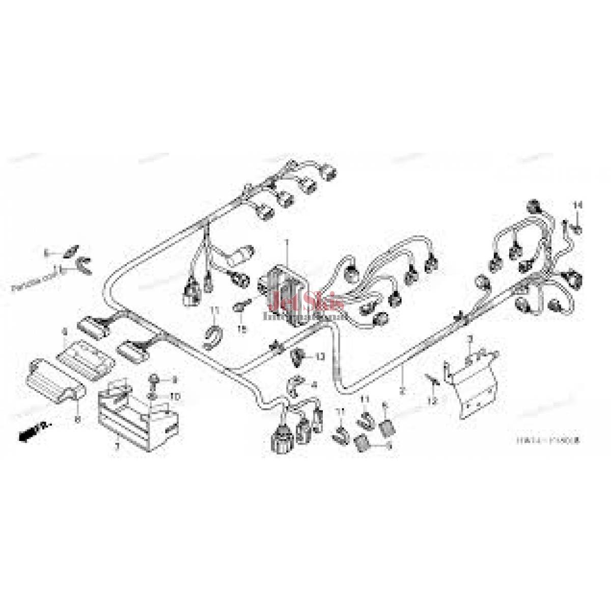 Honda Aquatrax Part# 32101-HW2-680 Engine Harness 2002