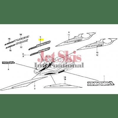 HONDA AQUATRAX 74267-HW1-690ZB F-12X STRIPE, L. (TYPE2