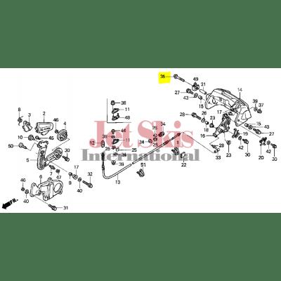 HONDA AQUATRAX PART# 90213-HW1-670 BOLT, FLANGE (6X60