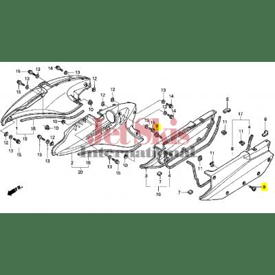 HONDA AQUATRAX PART# 90085-HW1-730 BOLT, SPECIAL (6X22