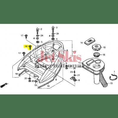 HONDA AQUATRAX PART# 90086-HW1-670 BOLT, SPECIAL (6X28