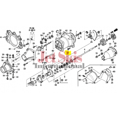 HONDA AQUATRAX PART # 90101-HW1-670 BOLT, FLANGE (8X25