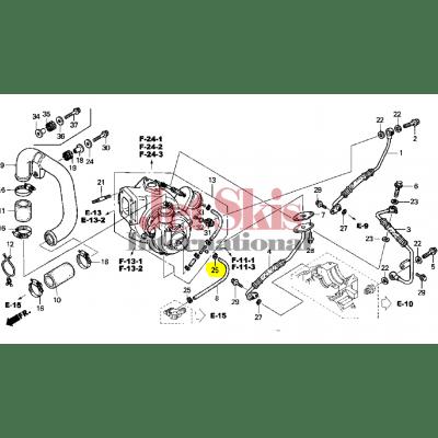 Honda ARX1200T3 AQUATRAX F-12X CLAMP, TUBE (D8.0) 90683