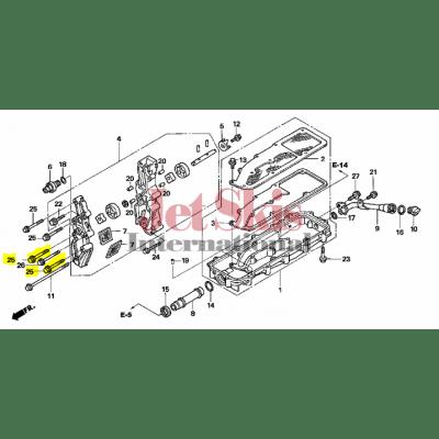 HONDA AQUATRAX PART# 95701-06070-00 BOLT, FLANGE (6X70