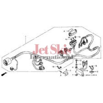 Honda Aquatrax Part# 32100-HW1-680 Main / Frame Wire