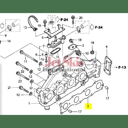 HONDA AQUATRAX PART# 18115-HW1-672 GASKET, EX. MANIFOLD