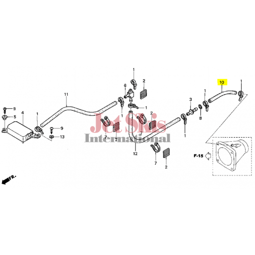 HONDA AQUATRAX PART# 95005-12001-50M BULK HOSE (12X1000