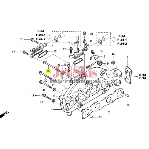 HONDA AQUATRAX PART # 90013-HW1-670 BOLT, FLANGE (8X135