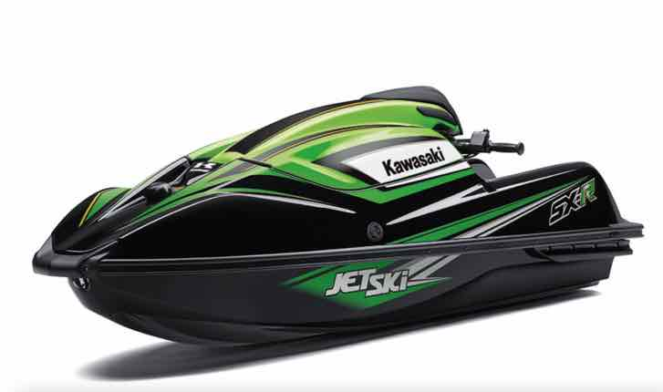The 2021 Kawasaki SX-R personal watercraft comes equipped