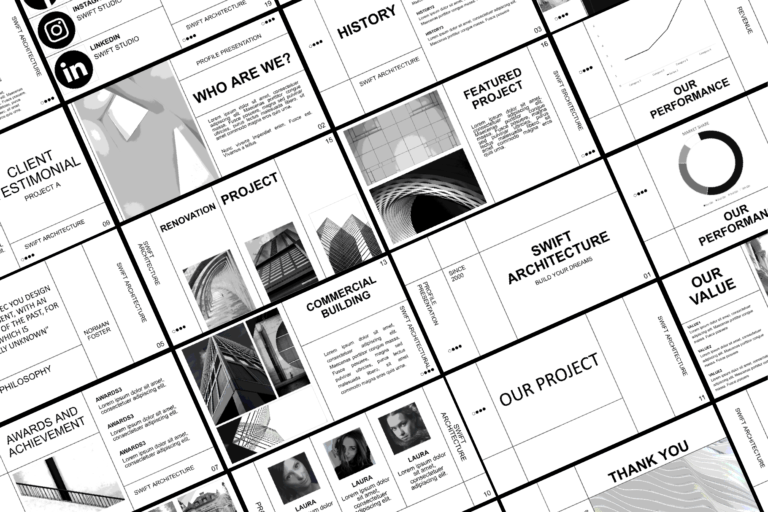 Preview image of BandW Presentation Template