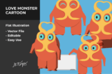 Last preview image of Love Monster Vector Illustration