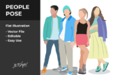Last preview image of People Pose Vector Illustration
