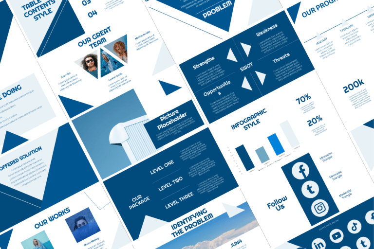 Preview image of Minimalist Triangle Presentation Template