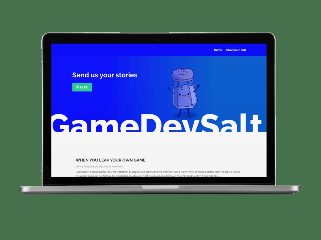 GameDevSalt on a Macbook Pro