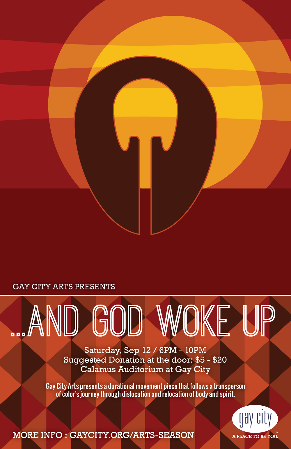 Poster for Gay City Arts: And God Woke Up