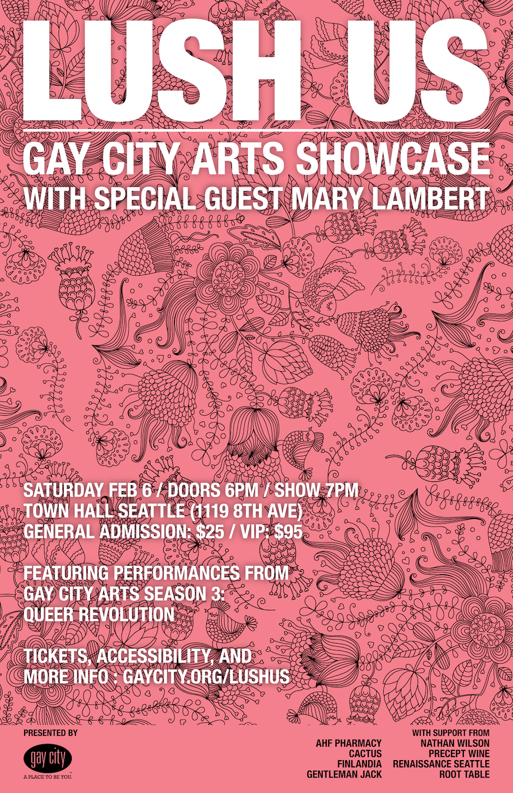 Poster for Gay City Arts: Lushus