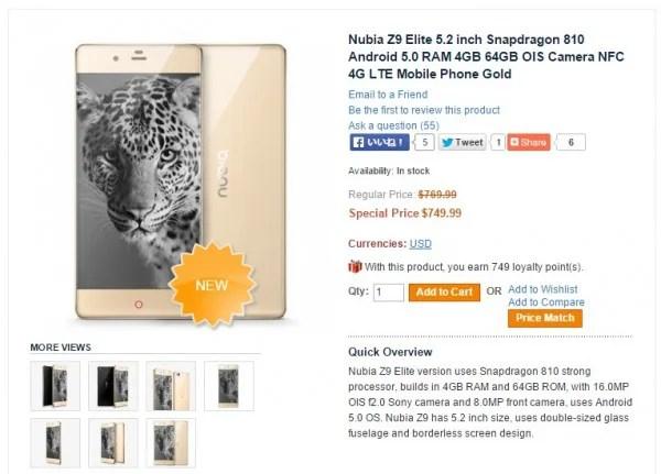 Nubia Z9 Elite Edition