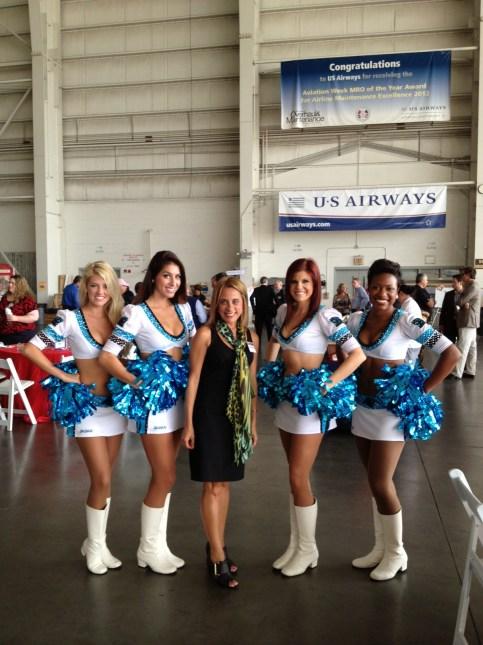 Mariela Feliciano and the Carolina Panthers TopCats