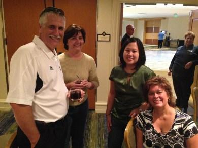 L to R: Darrel Gomes, Mrs. Gomes, Gail Cadorniga and Terri Gasch
